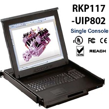 RKP117-UIP802-17inches LCD KVM switch 8-port Cat6 over IP, internet