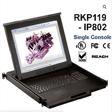 RKP119-UIP802-19 inches LCD KVM switch 8 port Cat6 over IP, internet