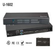 U-1602 16-port Cat6 2-Console KVM Switch over Enthernet
